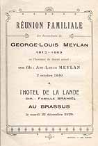 Thumbnail image of Reunion Familiale des descendants de George-Louis Meylan 1929 cover