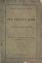 Thumbnail image of Chicago Old People's Home 1896 Report cover