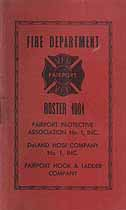 Thumbnail image of Fairport Fire Department 1961 Roster cover