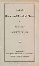 Thumbnail image of Montpelier Rooms and Boarding Places in 1923 cover