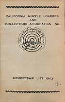 Thumbnail image of California Muzzle Loaders and Collectors 1963 Roster cover