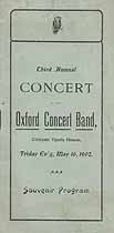 Thumbnail image of Oxford Concert Band 1902 Souvenir Program cover