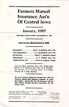 Thumbnail image of Farmers Mutual Insurance Association of Central Iowa 1956 Losses cover