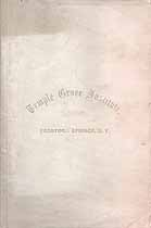 Thumbnail image of Temple Grove Institute 1860 Catalogue cover