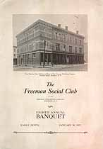 Thumbnail image of Freeman Social Club 1923 Annual Banquet cover
