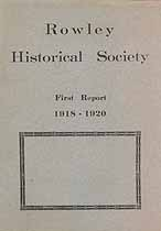 Thumbnail image of Rowley Historical Society 1918-1920 Report cover