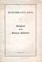 Thumbnail image of Daughters of the Amer. Revolution, 1922 Remembrance Book cover