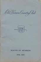 Thumbnail image of Old Warson Country Club 1956-1957 Roster cover
