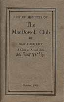 Thumbnail image of MacDowell Club of NYC 1926 Members cover