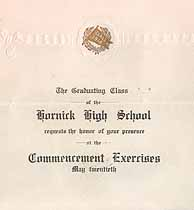 Thumbnail image of Hornick High School 1914 Commencement cover