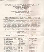Thumbnail image of Estate of Henrietta E. Garrett, Hearings of Cases, 1937, Jan-Apr cover