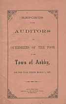Thumbnail image of Ashby Overseers of the Poor 1867 Report cover