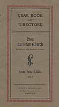 Thumbnail image of Sioux Falls Zion Lutheran Church 1927 Directory cover