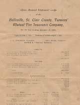 Thumbnail image of Belleville, St. Clair County, Farmers' Mutual Fire Insurance Company 1904 Claims cover