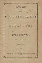 Thumbnail image of Coos County Commissioners Report for 1876 cover
