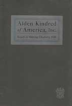 Thumbnail image of Alden Kindred of America 1926 Report cover