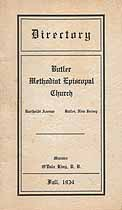 Thumbnail image of Butler Methodist Episcopal Church 1934 Directory cover