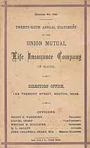 Thumbnail image of Union Mutual Life Insurance Company of Maine 1875 Death Claims cover