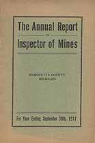 Thumbnail image of Marquette County 1916-1917 Mining Accidents cover