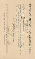 Thumbnail image of Fryeburg Mutual Fire Insurance Co. 1909/1917 Assessments cover