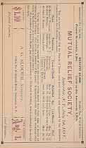 Thumbnail image of Rochester Mutual Relief Society 1881 Assessment (July) cover