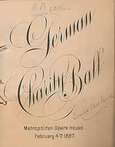 Thumbnail image of German Charity Ball 1897 Program cover