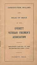 Thumbnail image of Everett Veteran Firemen's Association 1925 Roster cover