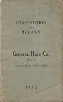 Thumbnail image of Genesee Hose Company No. 5 Roster 1932 cover