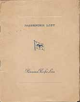 Thumbnail image of S. S. Mongolia 1926 Souvenir Passenger List (New York to San Francisco) cover