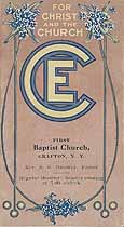 Thumbnail image of Grafton First Baptist Church 1913 Calendar cover