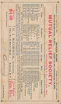 Thumbnail image of Rochester Mutual Relief Society 1885 Assessment (January) cover
