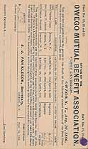 Thumbnail image of Owego Mutual Benefit Association 1886 Assessments cover