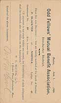 Thumbnail image of Odd Fellows' Mutual Benefit Association 1906/1908 Assessments cover