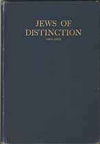 Thumbnail image of Jews of Distinction (1815-1915) cover