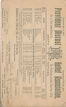 Thumbnail image of Provident Mutual Relief Assoc. 1893 (January) Notice cover