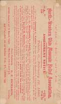 Thumbnail image of North-Western Ohio Masonic Relief Association 1886 (February) Assessment cover
