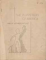 Thumbnail image of Puppeteers of America 1946-47 Membership List cover