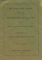 Thumbnail image of Williamson County Quarterly Court 1918 Members cover