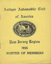 Thumbnail image of Antique Automobile Club of America 1955 NJ Roster cover