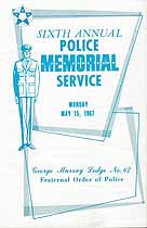 Thumbnail image of George Murray Lodge No 67 F. O. P, 1967 Memorial Service cover