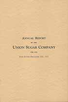 Thumbnail image of Union Sugar Company 1933 Report cover