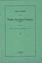 Thumbnail image of Waialua Agricultural Company 1934 Report cover
