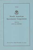 Thumbnail image of North American Investment Corporation 1934 Report cover