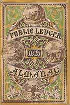 Thumbnail image of Public Ledger Almanac 1875 cover
