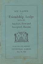 Thumbnail image of Friendship Lodge, No. 83 F. & A. M. 1925 By-Laws cover