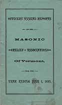 Thumbnail image of Vermont Masonic Relief Association, 1881, Mortuary Record cover