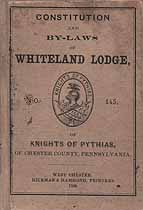 Thumbnail image of Whiteland Lodge No. 145 K. of P. 1869 By-Laws cover