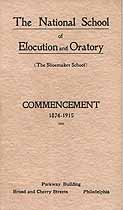 Thumbnail image of National School of Elocution and Oratory 1915 Commencement cover