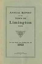 Thumbnail image of Limington, Maine, 1923, Town Report cover