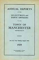 Thumbnail image of Manchester, Connecticut,1929, Town Report cover
